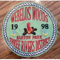 Bsa Boy Scout Uniform Patch Bsa Webelos Woods 1998 Barton Park Three Rivers Dist