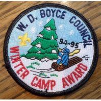 Bsa Boy Scout Uniform Patch W.D.Boyce Counci Winter Camp Award 1994-95