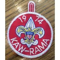 Bsa Boy Scout Uniform Patch 1976 Kaw-Rama Fleur-Di-Lis