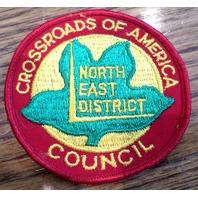 Bsa Boy Scout Uniform Patch Bsa Crossroads Of America North East District Counci