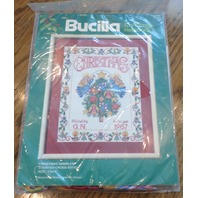 Bucilla Christmas Heirloom 82471 Christmas Stampler 11 x 14 Kit New