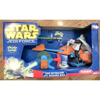 Star Wars 2004 Playskool Jedi Force Luke Skywalker with Speeder Bike