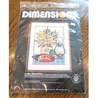 Dimensions A Fall Collection Mallard Duck Vintage Lamp Counted Cross Stitch Kit