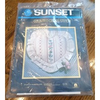 Sunset Country Rose Pillow 13 X 13 #2997 New Counted Cross Stitch Kit
