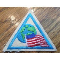 Girl Scout Merit Badge Uniform Patch Citizen Near And Far Try-It Triangle