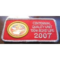 Bsa Boy Scout Uniform Centennial Quality Unit 100% Boys Life 2007 Red Silver