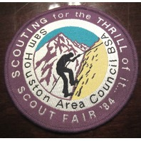 Sam Houston Council Fair 1984 For The Thrill Of It.. Boy Scout Bsa Vintage Patch