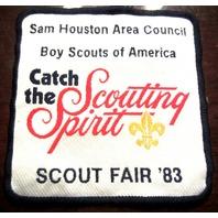 Catch The Scouting Spirit Scout Fair 1983 Bsa Boy Scout Uniform Patch