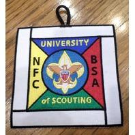 Vintage Uniform Patch Boy Scout University Of Scouting Nfc Bsa