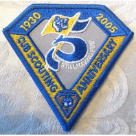 Bsa Boy Scout Uniform Patch Blue And Yellow 2005 Cub Scouting Anniversary