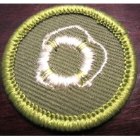 Boy Scouts Life Saving Patch Merit Badge Type F Cloth Back