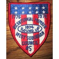 Bsa Boy Scout Uniform Patch Bicentennial Member 1974 Roundup West Suburban Co