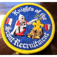 Boy Scout Patch Vintage Bsa Knights Of The Scout Recruitment Occ