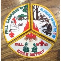 Bsa Boy Scout Uniform Patch 1981 82 83 Klondike Derby Fall Camporee Eagle Dist