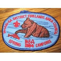 Bsa Boy Scout Uniform Patch Firelands Area Council Spring 1984 Camporee Bsa
