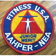 Fitness Usa Aahper-Nea Junior Merit Boy Scouts Uniform Patch Bsa