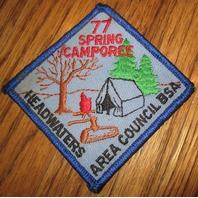 Vintage Boy Scout Patch Headwaters Area Council Bsa