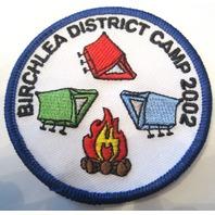 Birchlea District Camp 2002 Bsa Boy Scout Uniform Patch