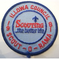Illowa Council Scouting The Better Life 1981 Boat Bsa Boy Scout Uniform Patch