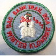 Dac Sauk Trail Winter Klondike 1977 Bsa Boy Scout Uniform Patch