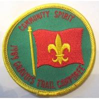 Community Spirit 1989 Gravois Trail Camporee Bsa Boy Scout Uniform Patch