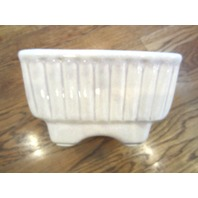 Hull Pottery Cream Light Mauve Off White Planter 717