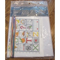 """Sunset Counted Cross Stitch I Know My Abc'S 9"""" X 12"""" Sampler New"""