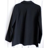 Womens Liz Claiborne Lizsport Sz L Large Black Lined Suit Jacket Easter Casual