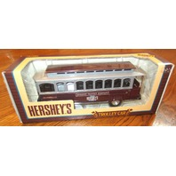 Hershey'S 1995 1/43 Scale Die Cast Metal Trolley Car Locking Coin Bank