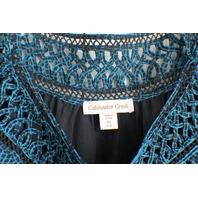 Coldwater Creek Polyester Lagenlook Blue Sheer Top Sz XS 4-6