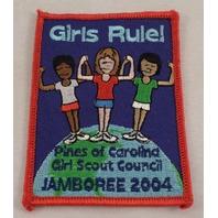 Girl Scout Patch Pines Of Carolina Jamboree 2004 Uniform Patch Gs #Gsrd