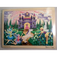 Fairy Fantasy Tale Castle Wooden Jigsaw Puzzle -48 Pcs By Melissa & Doug