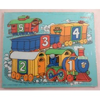 Playskool Play School Vintage Wooden Puzzle Playskool Cookie'S Number Train