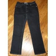 Chicos Platinum Dark Wash Sz 1 (One) Denim Jeans