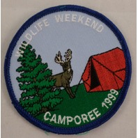 Girl Scout Patch Wildlife Weekend Camporee 1999 Uniform Patch Gs #Gsbr