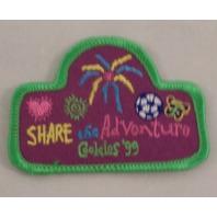 Girl Scout Patch Gs Share The Adventure Cookies 1999 Uniform Patch  #Gsgr