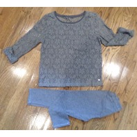 Kids Abercrombie & Fitch Gray Lace Shirt + Matching Leggings Sz S Spring Fall