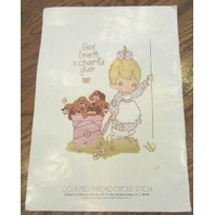 Precious Moments-Counted Cross-Stitch Booklet 18 Designs With Color Pictures Too