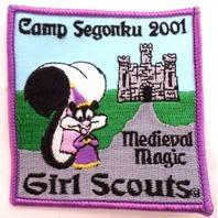 Girl Scout Gs Uniform Patch Camp Segonku 2001 Medieval Magic  #Gspp