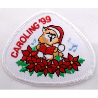 Girl Scout Gs Uniform Patch Caroling 1999 Kitten In The Poinsettias #Gswh