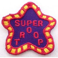 Girl Scout Gs Uniform Patch Super Troop Star Shape #Gspk