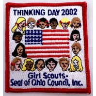 Girl Scout Gs Uniform Patch Thinking Day 2002 Seal Of Ohio Council Inc.   #Gsrd