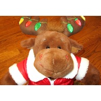 Build a Bear Moose with Light Up Ears Holiday Winter Ski Coat