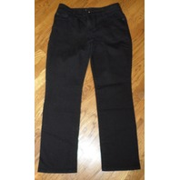 Womens Jrs Chico'S Platinum Denim Black Denim Pants Sz 0.5 Short