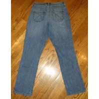 Chicos Platinum Denim Medium Wash Blue Jeans Pants Sz 0.5 Short