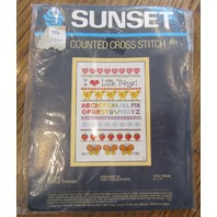"Sunset Counted Cross Stitch ""I Love Little Things"" #921 New"