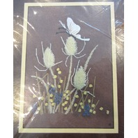 """Sunset Cross Stitch """"Butterflies And Thistles"""" #229 New"""