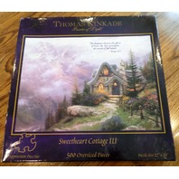 Thomas Kinkade Sweetheart Cottage III 3 Oversized Piece Puzzle New Sealed 500 pc