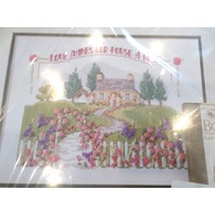 Bucilla Counted Cross Stitch Ribbon Embroidery Love Makes our House a Home Kit