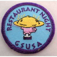 Girl Scout Patch Restaurant Night Gsusa Usa Dinner Plate